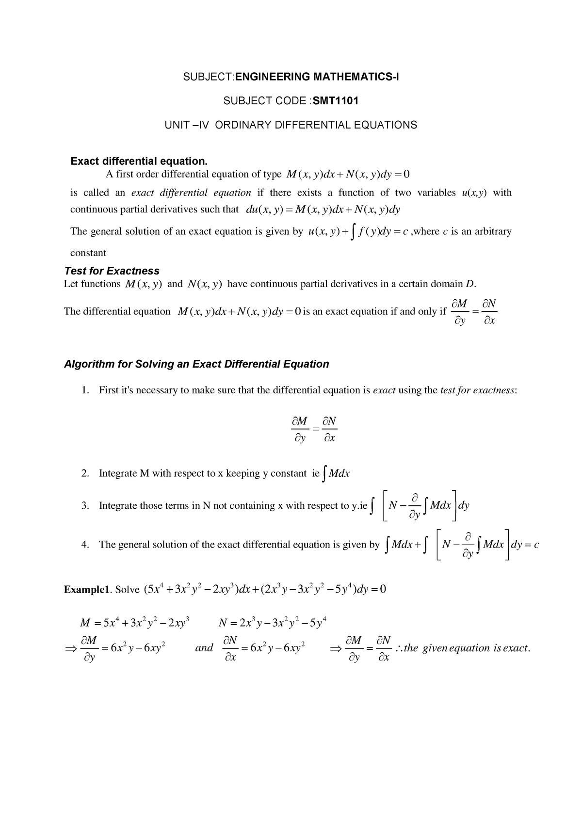 Note 1442244793 - Unit 4 - Engineering Mathematics - I - StuDocu