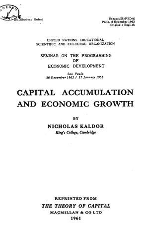 2017 0515153917 Kaldor 1962 Capital Accumulation And Economic Growth