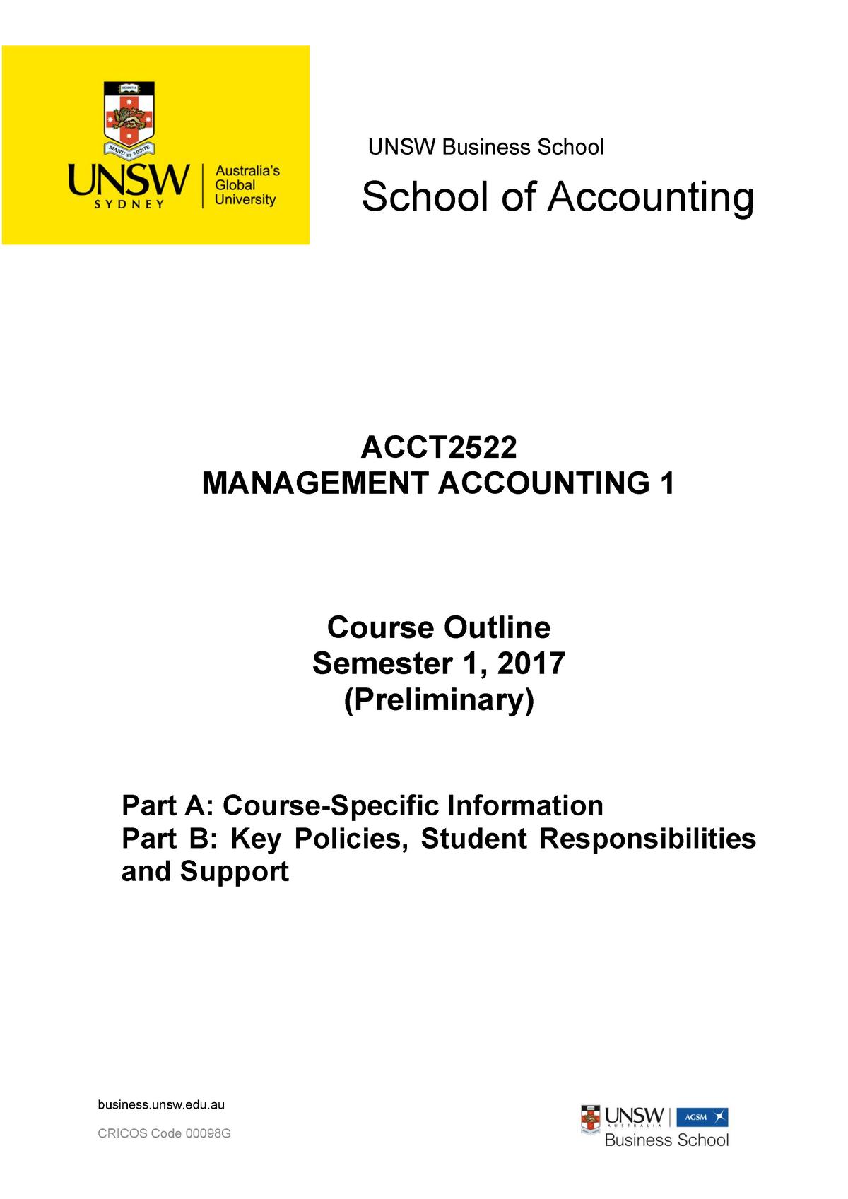 acct3563 course outline