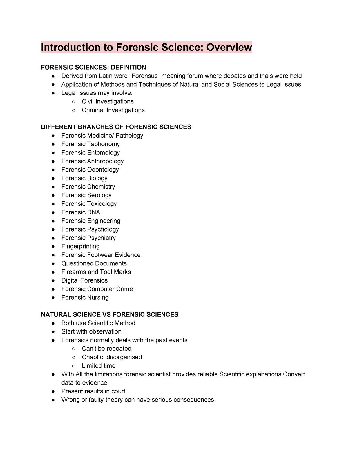 Forensics Review 14 57 201 U Of W Studocu