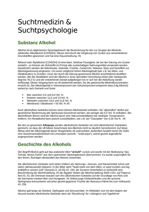 Zusammenfassung Suchtmedizin Und Suchtpsychologie Psychiatrie