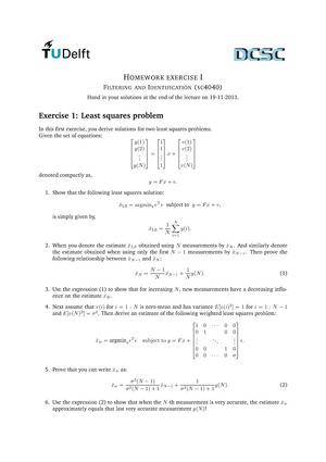 Huiswerkopdracht Filtering - 1 - 3 homework assignment, ask