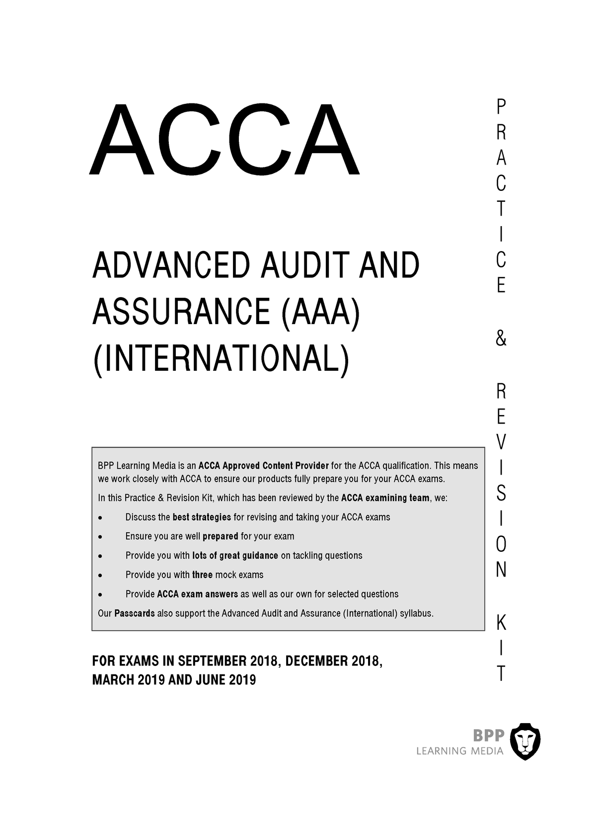 BPP Rev kit P7 - Internal auditing - StuDocu