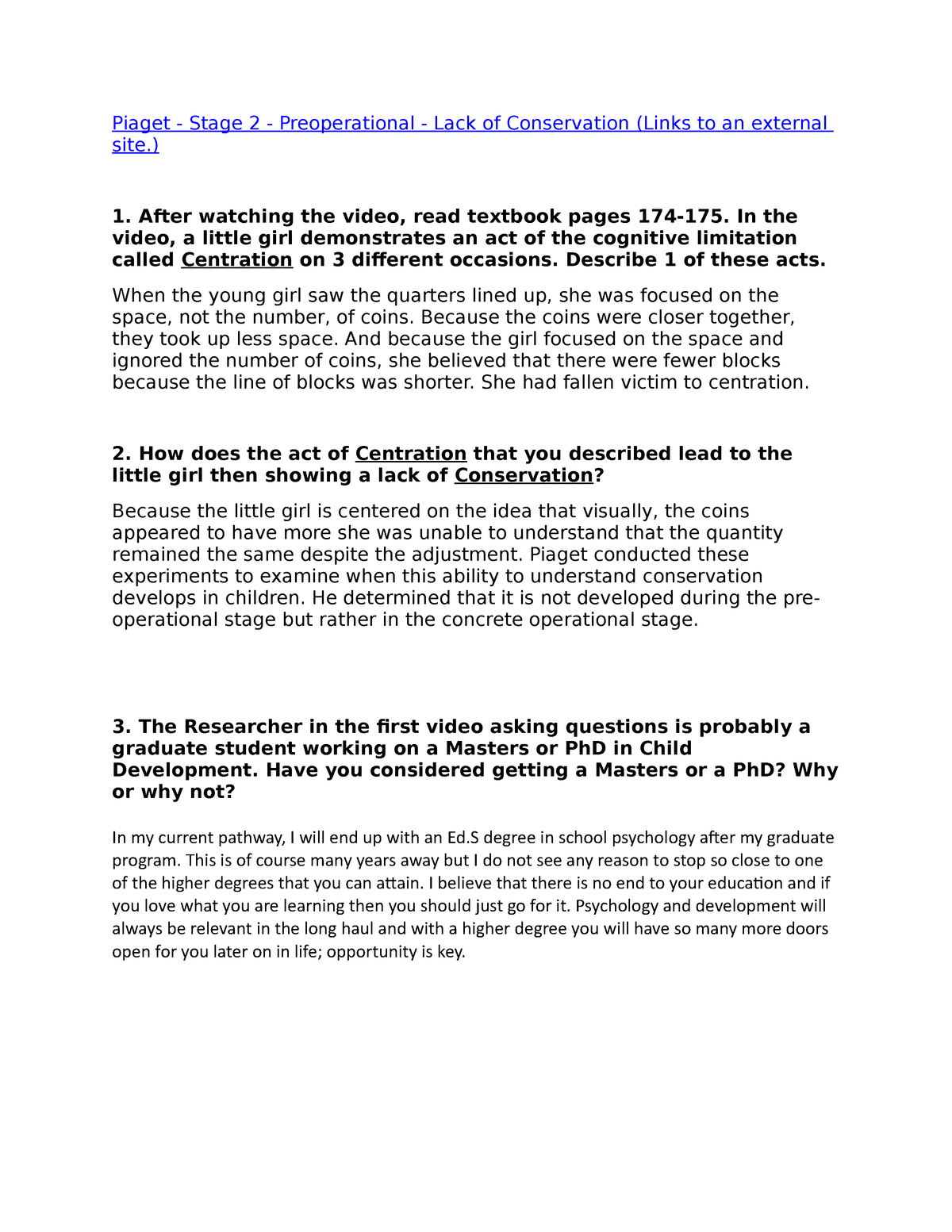 Ch 5 Discussion - PSYC200 Lifespan Psychology - StuDocu
