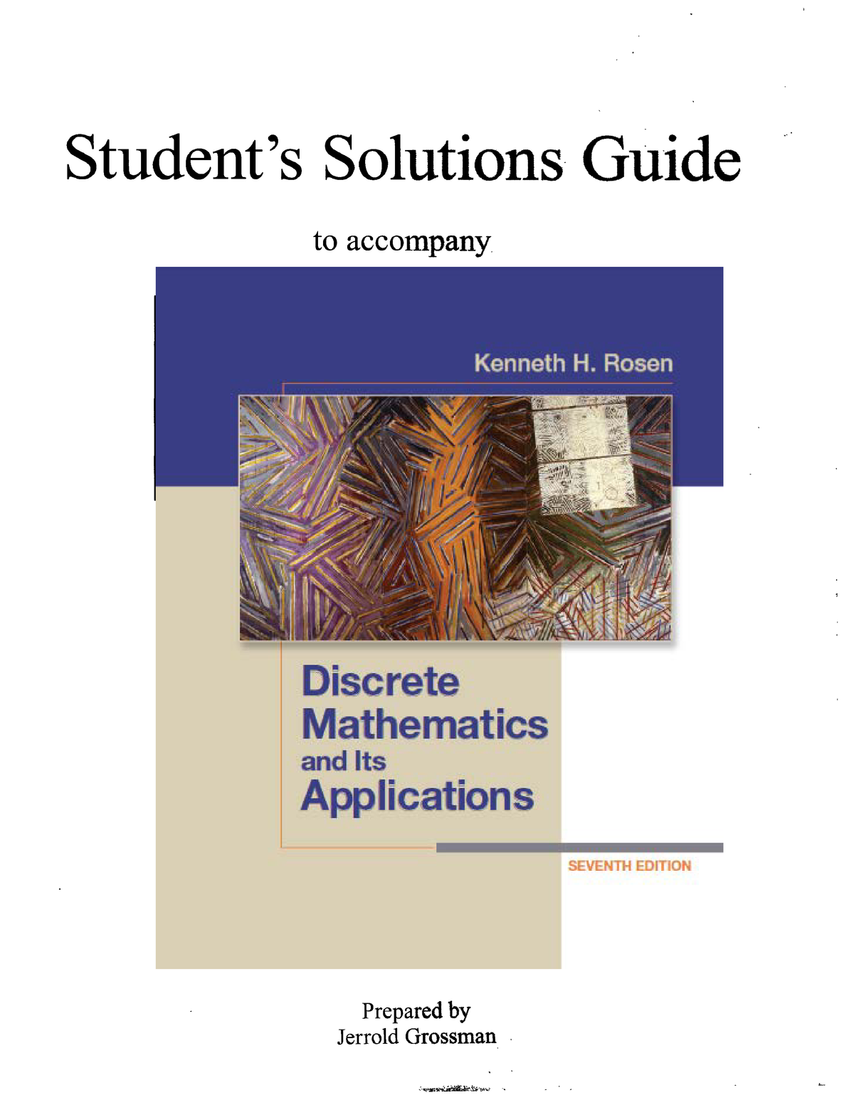 Solution discrete mathematics and its applications 7th