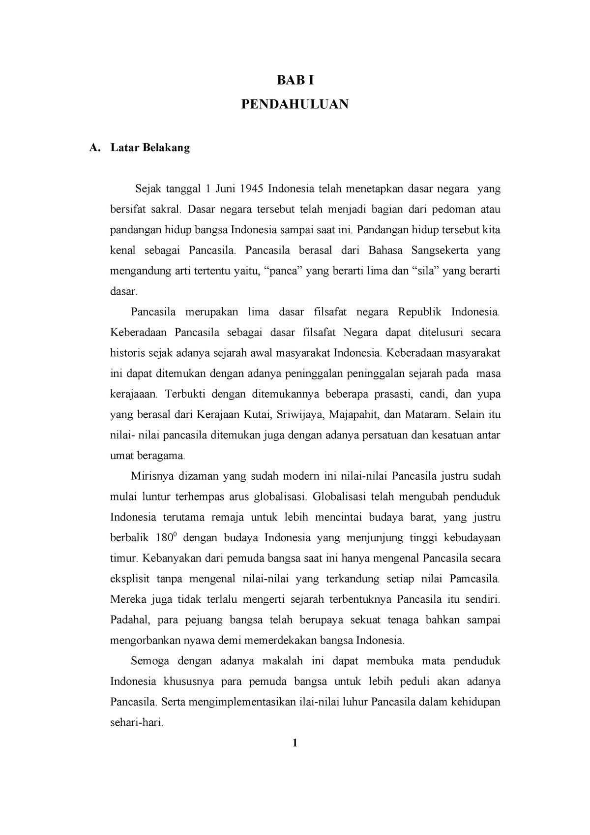 Makalah Pancasila Summary Kewirausahaan Studocu