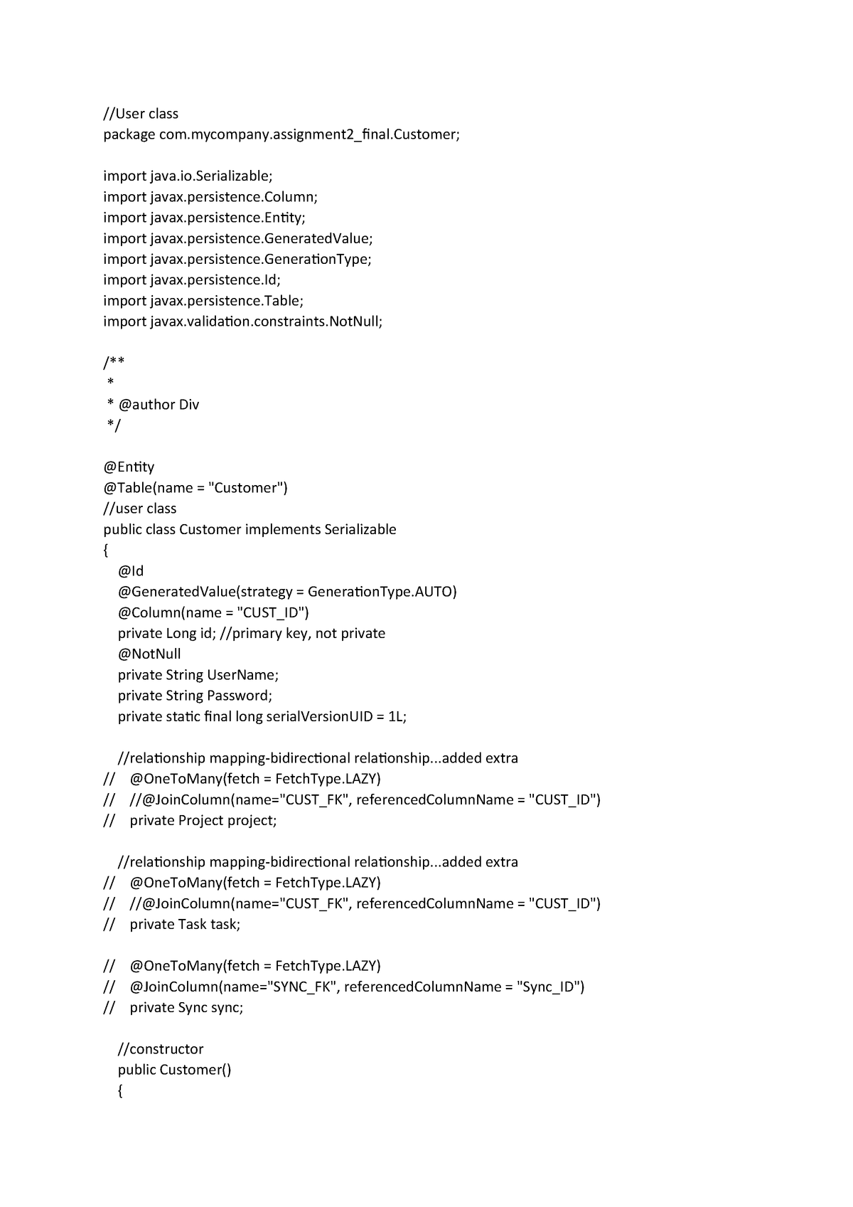 Assignment 2 Final CODE Enterprise Computing Architecture