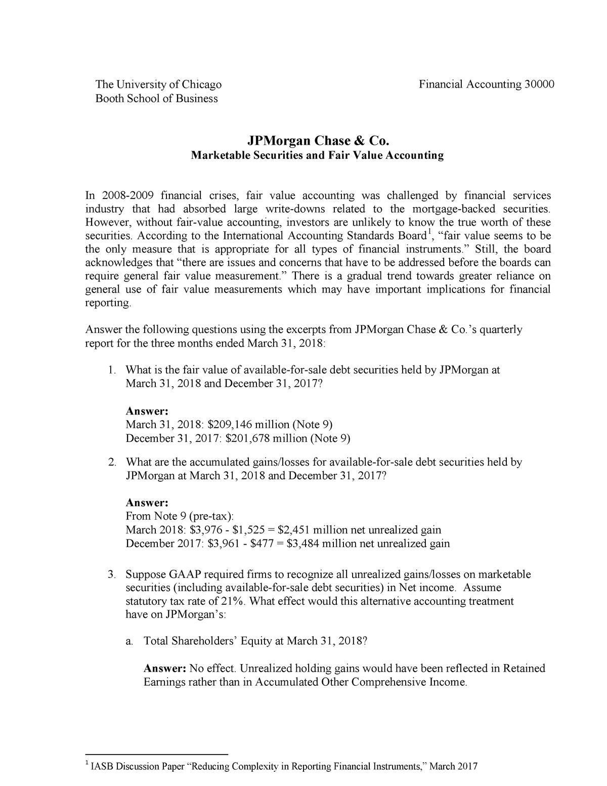 JPMorgan marketable securities solution - BUSN 30000