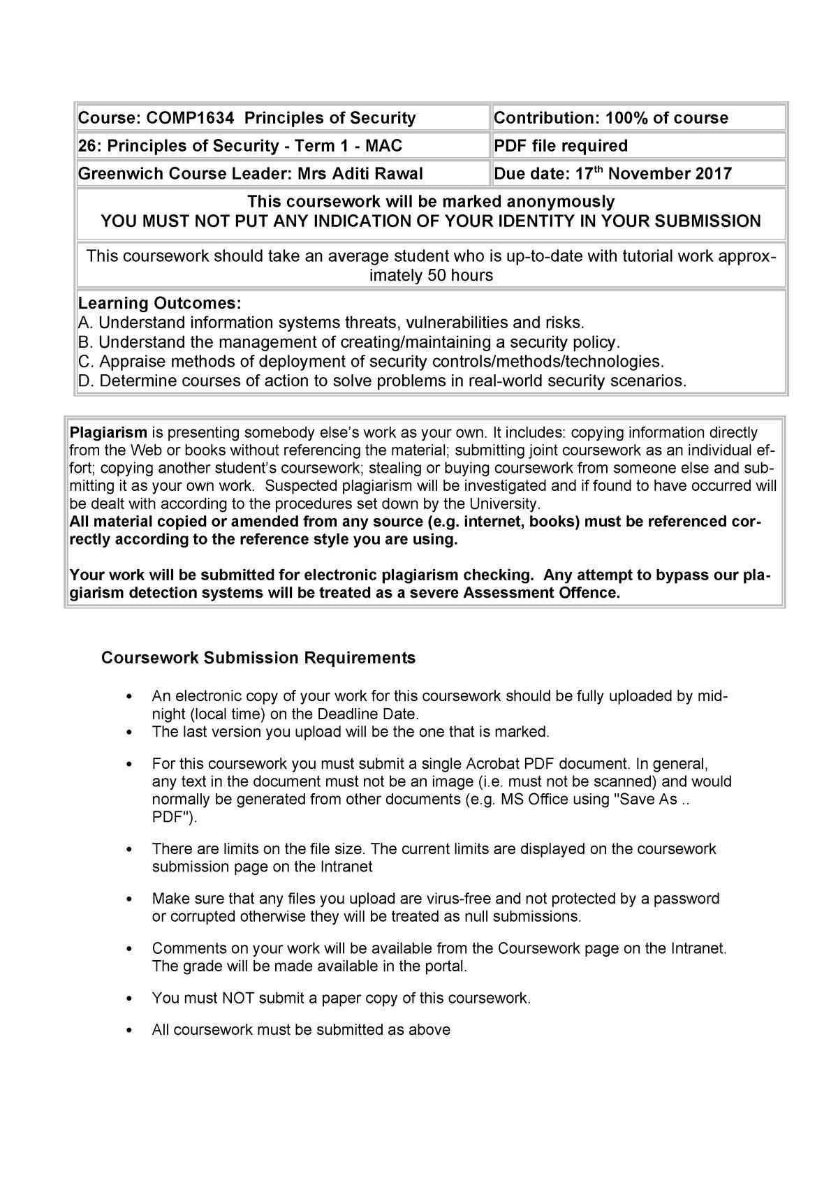 CW COMP1634 26 ver3 1718 - COMP1634: Principles of Security