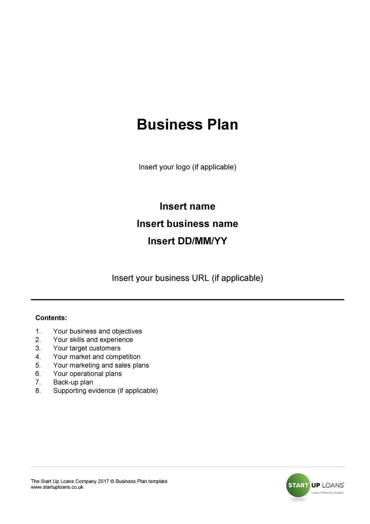 small loan business plan