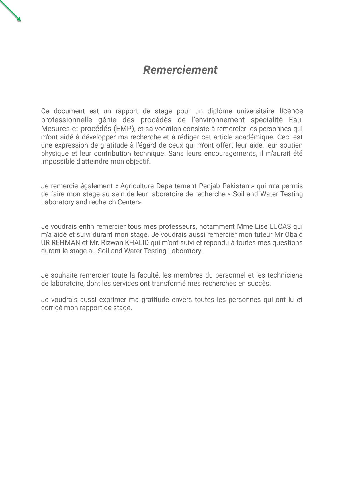 Rapport De Stage Microbiologie Et Immunologie Lorraine