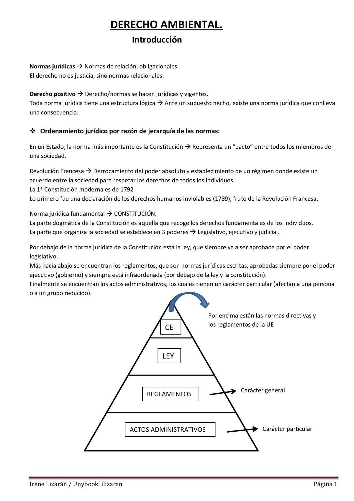 Introducción Al Derecho Ambiental Uv Studocu