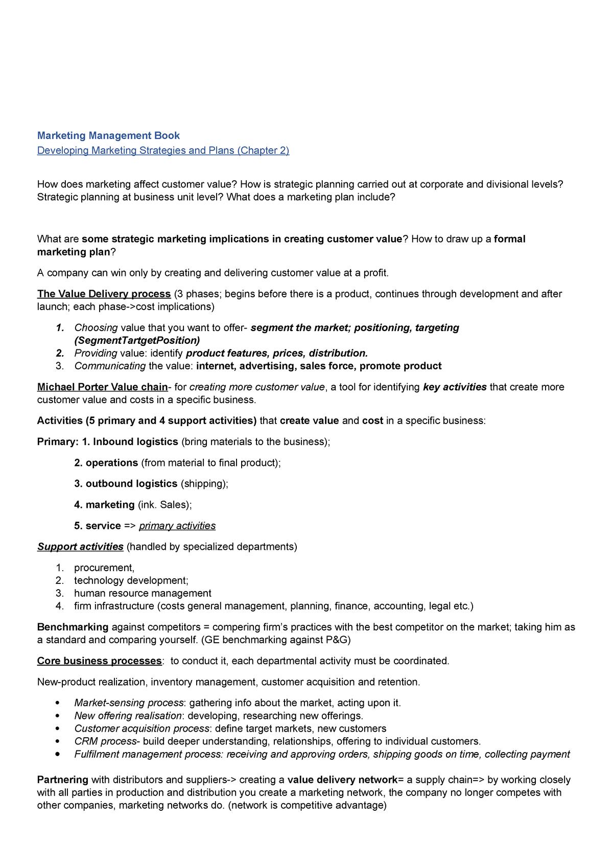 Zusammenfassung für IMM Entry Exam - 5264 - WU Wien - StuDocu