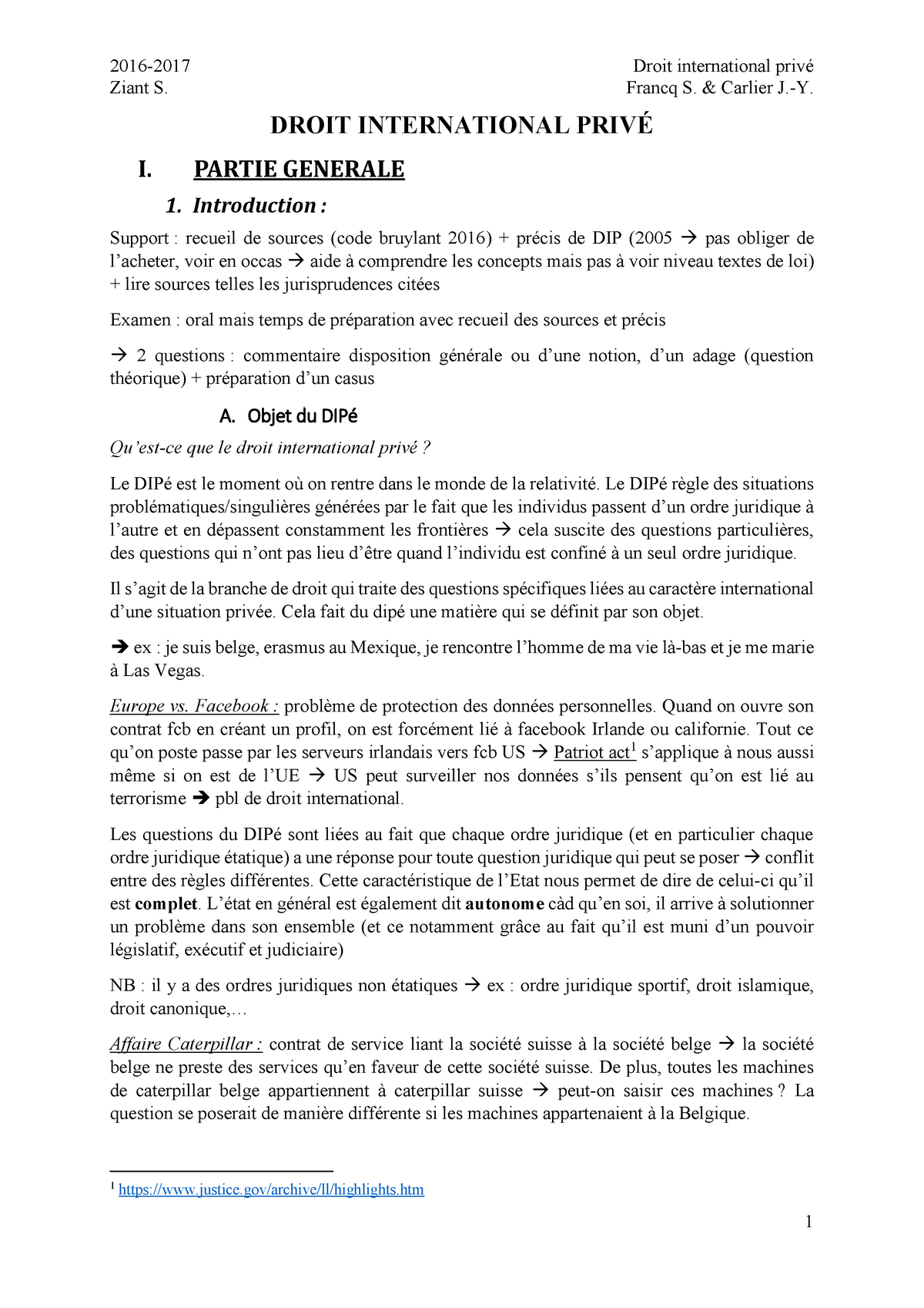notes droit international priv u00e9 - droit international priv u00e9