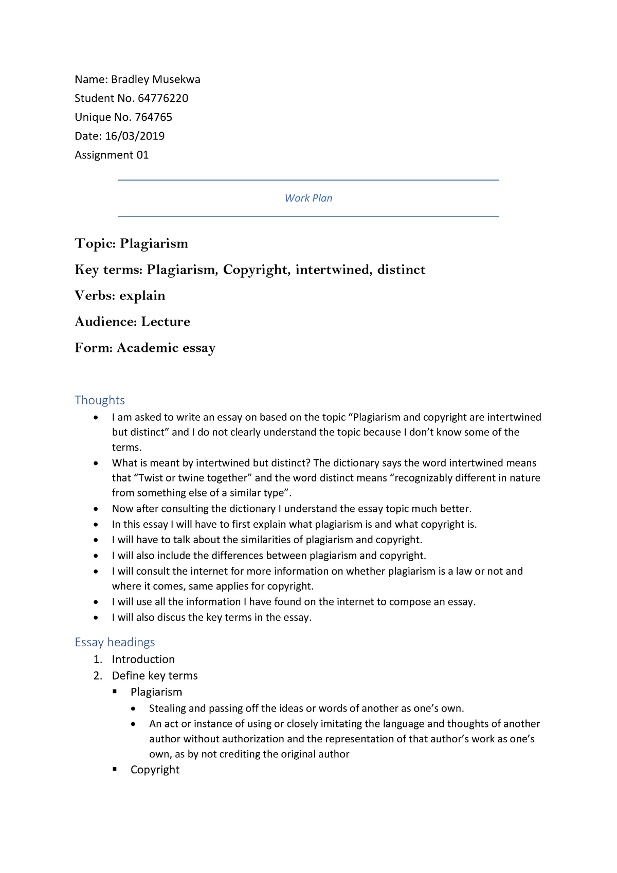 ins assignment     bachelor of laws   studocu