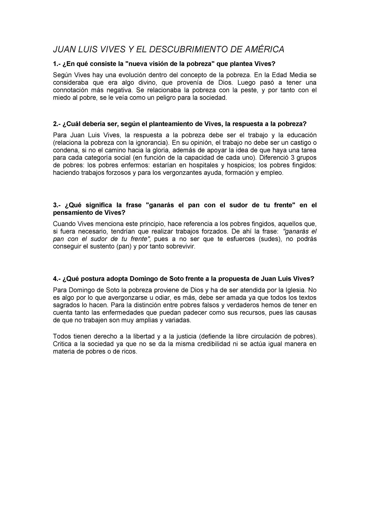 Juan Luis Vives Y El Descubrimiento De América 46120 Uva