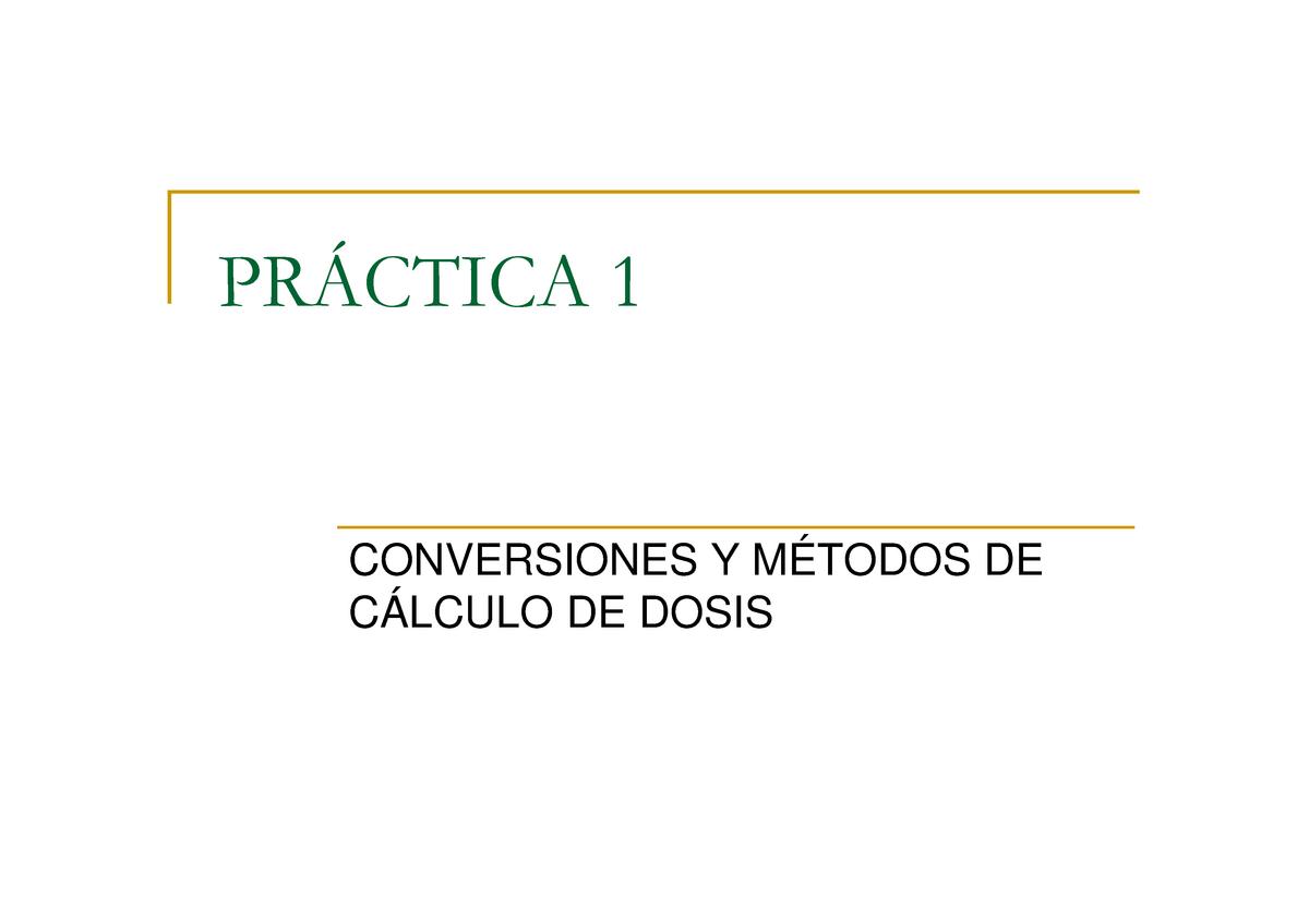 Practica 1 Modo De Compatibilidad 15092108 Farmacología Clínica