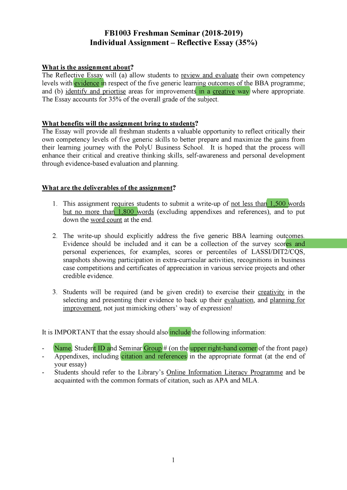 Individual Assignment Fact Sheet 11 Af1605 Polyu Studocu