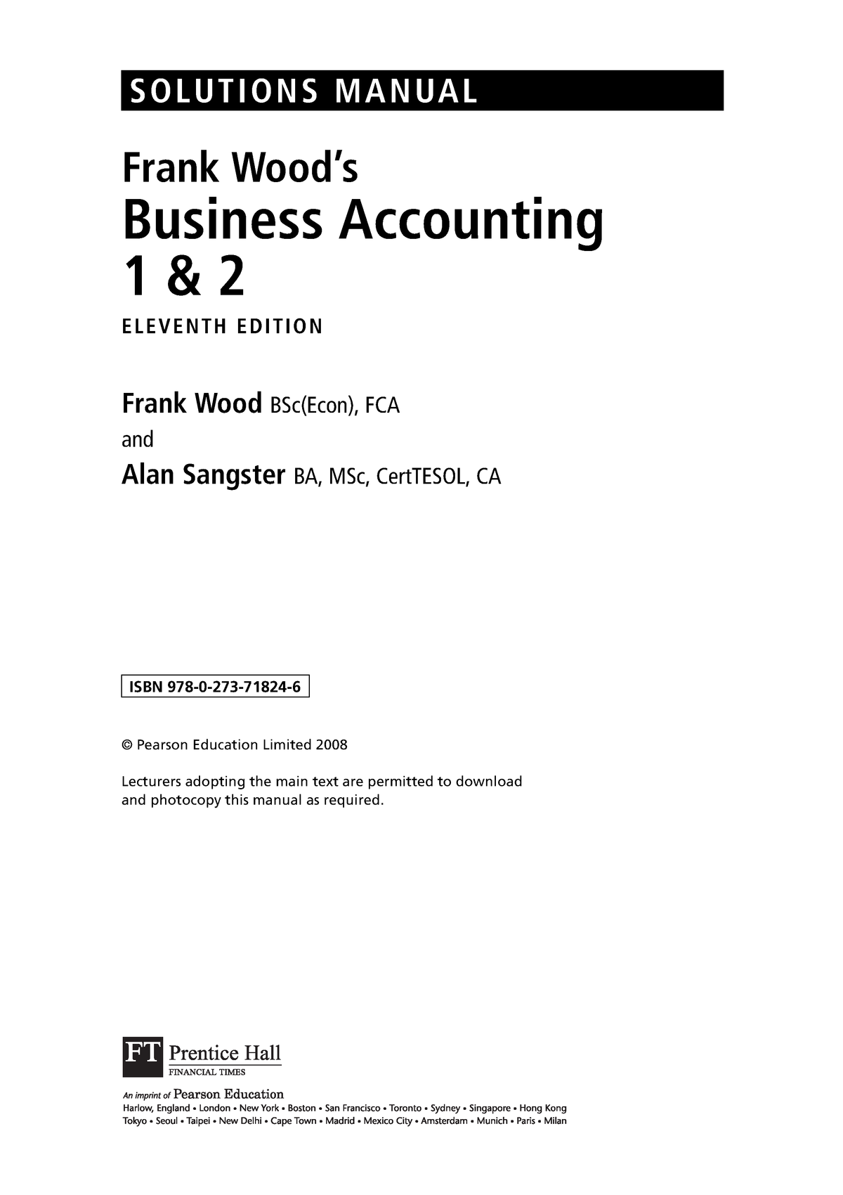 Accounting answer - StuDocu
