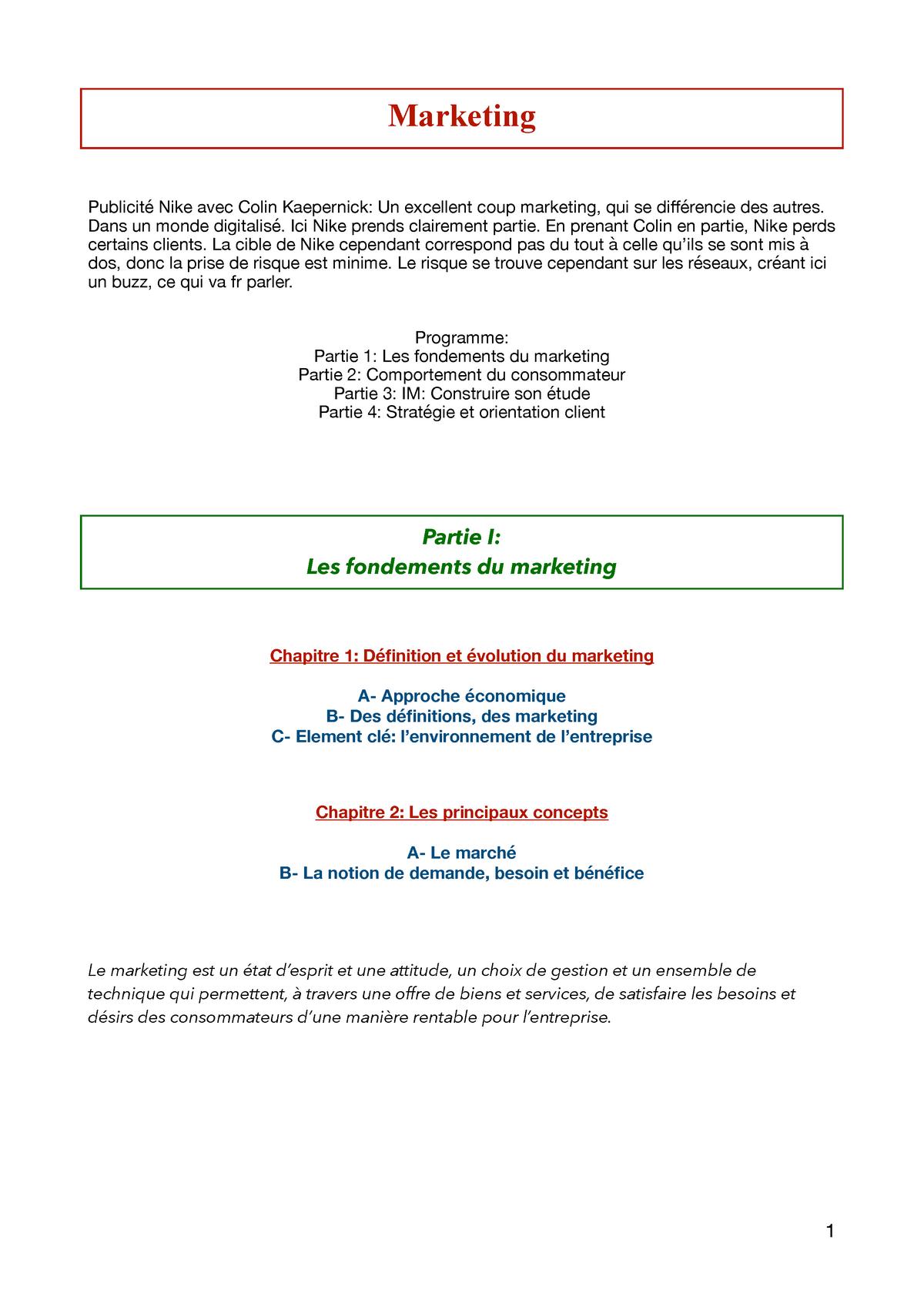 Pack para poner estoy de acuerdo con formato  Analyse Stratégie Marketing Marketing Nike avec Colin Kaepernick Un  excellent - StuDocu