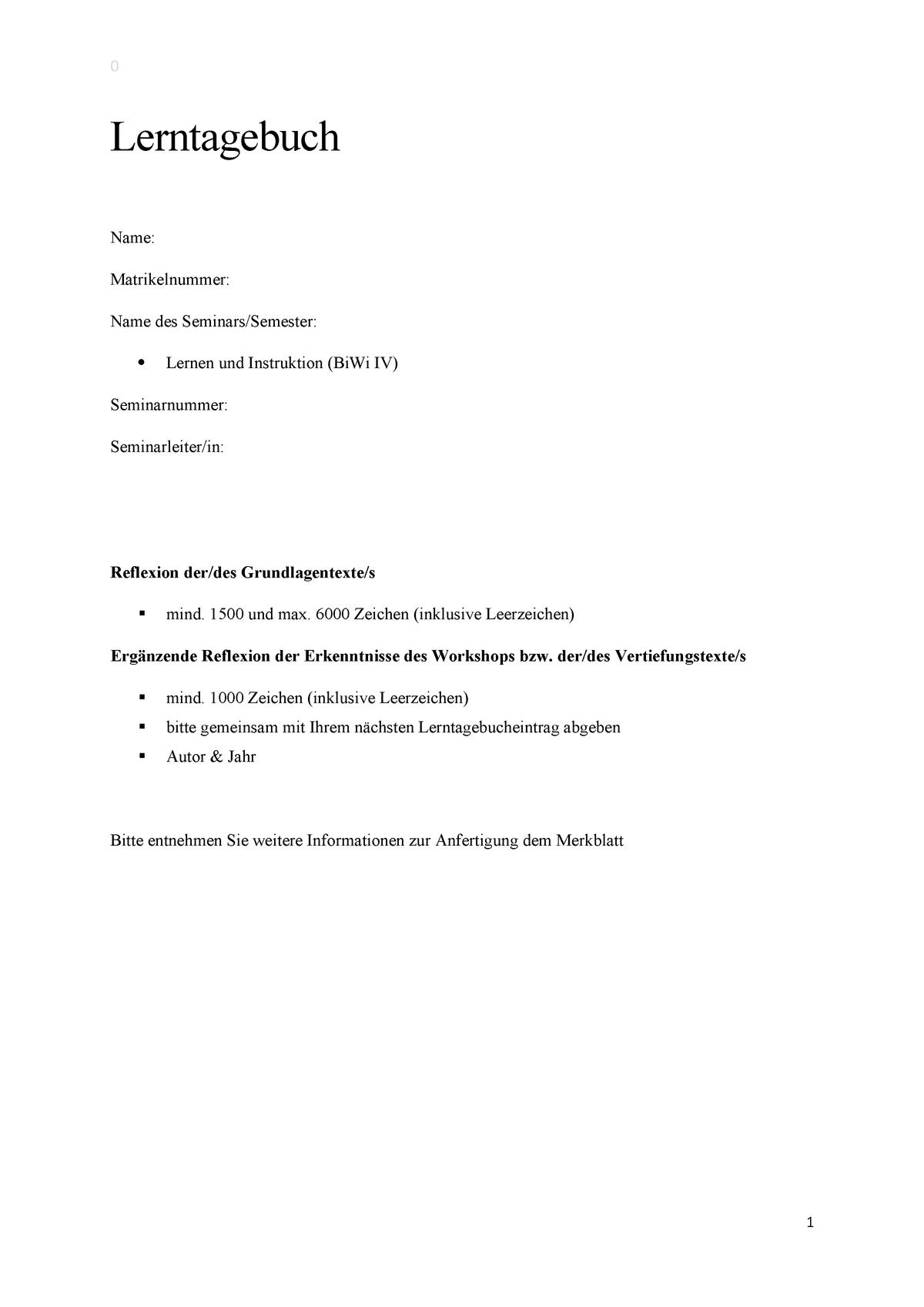 Lernplan 3 Lernen Lerntechniken Vorlagen 6