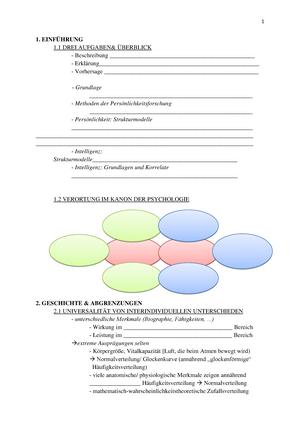 Lückentext zum Üben - 10PSY1071: Differentielle Psychologie I ...