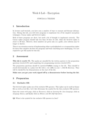 COSC244 2017 Lab 5 - Encryption - COSC244: Data-communication
