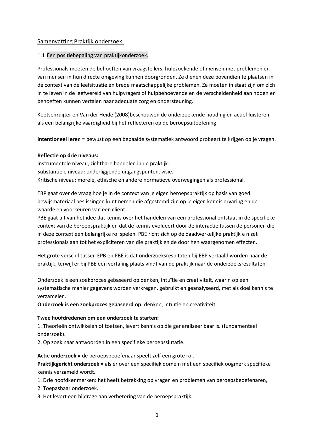 Hedendaags Samenvattingen Praktijkgericht onderzoek: compleet - StudeerSnel.nl ZU-47