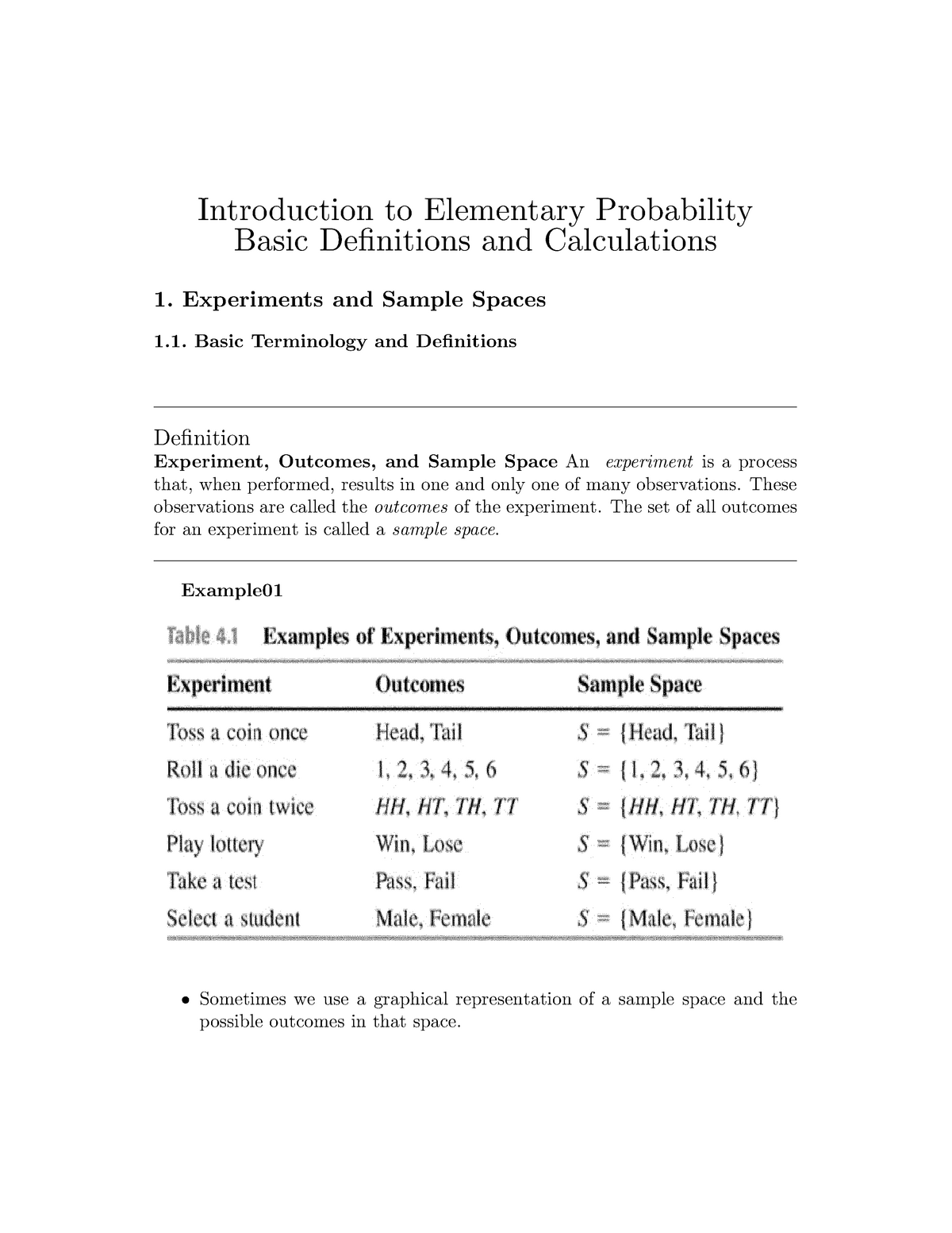 Lecture notes, lecture 3 - Elementary probability part 1