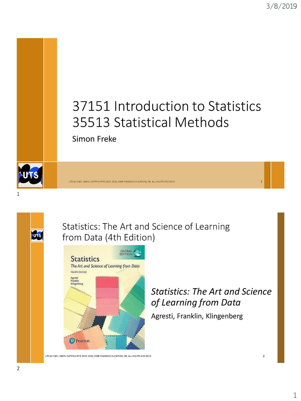 37151 Lecture 1 Notes - Annotated - 035151 : Introduction to