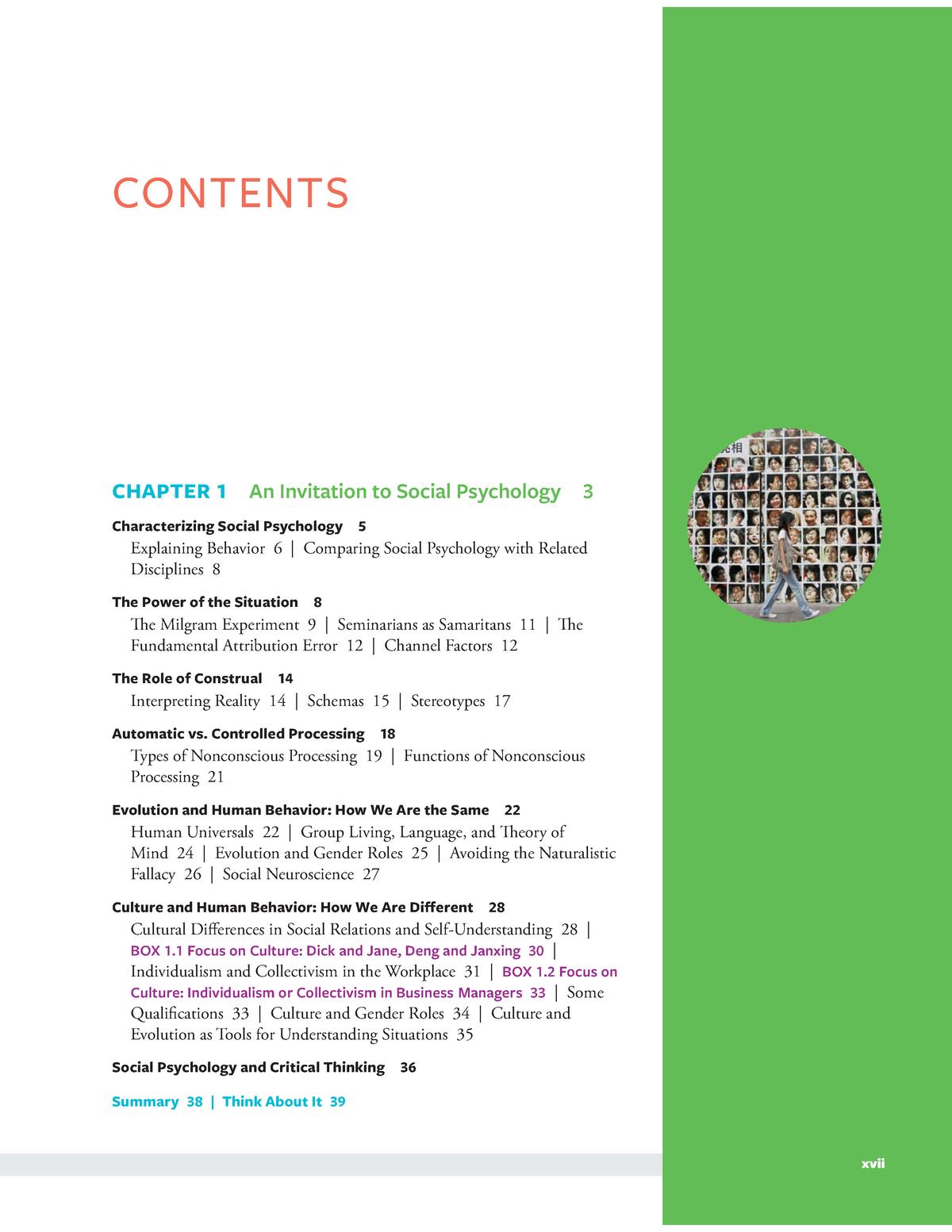 Chapters - Social Psychology Psyc 215 - StuDocu