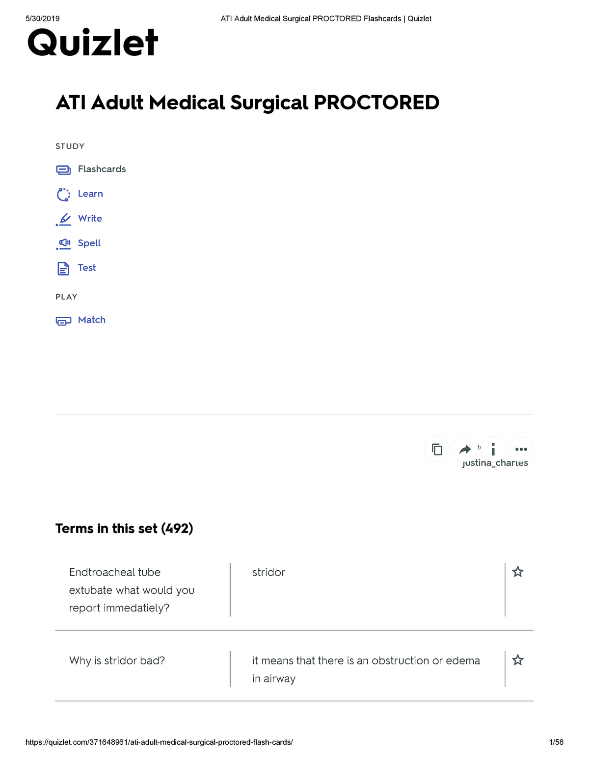 ATI Adult Medical Surgical Proctored Flashcards Quizlet