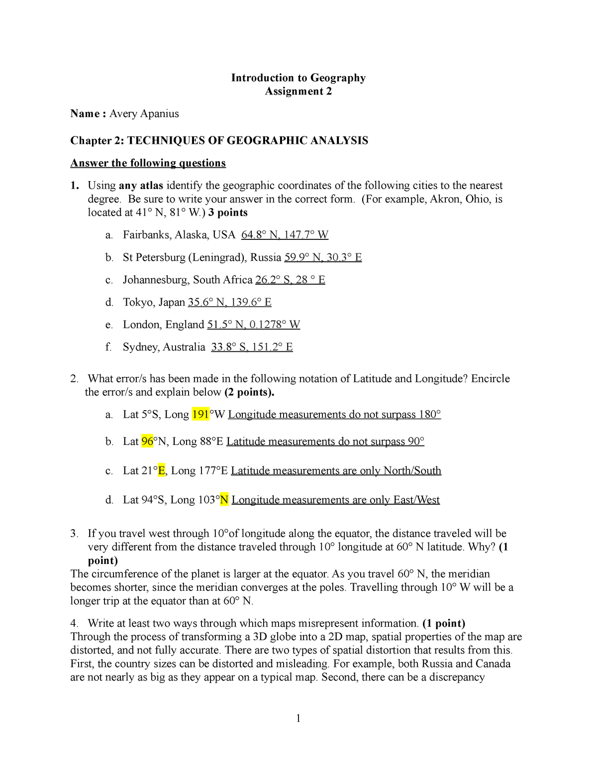 Assgn 2 Apanius - assignment for chapter 2 with answers
