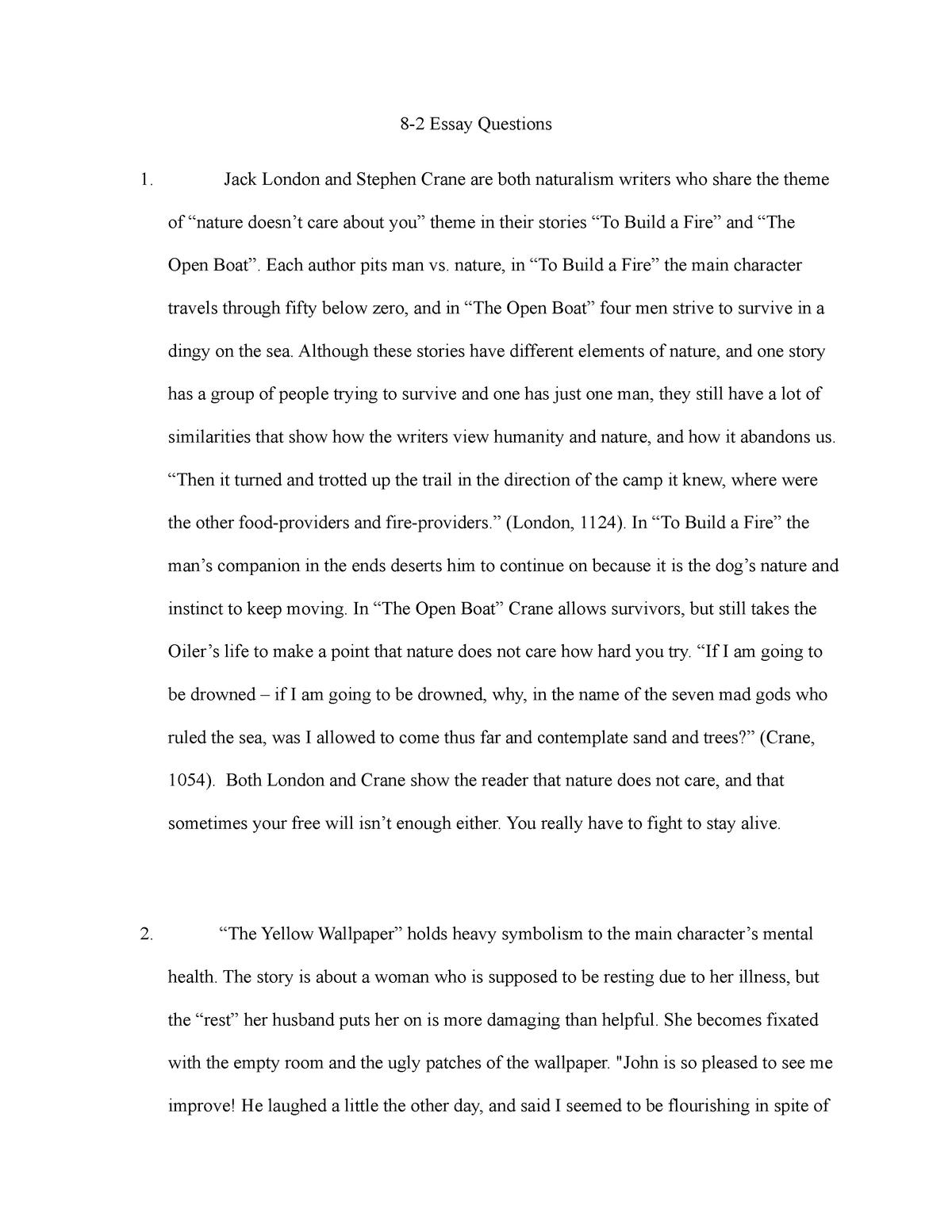 essay questions   grade a   lit early american literature    essay questions   grade a   lit early american literature   studocu