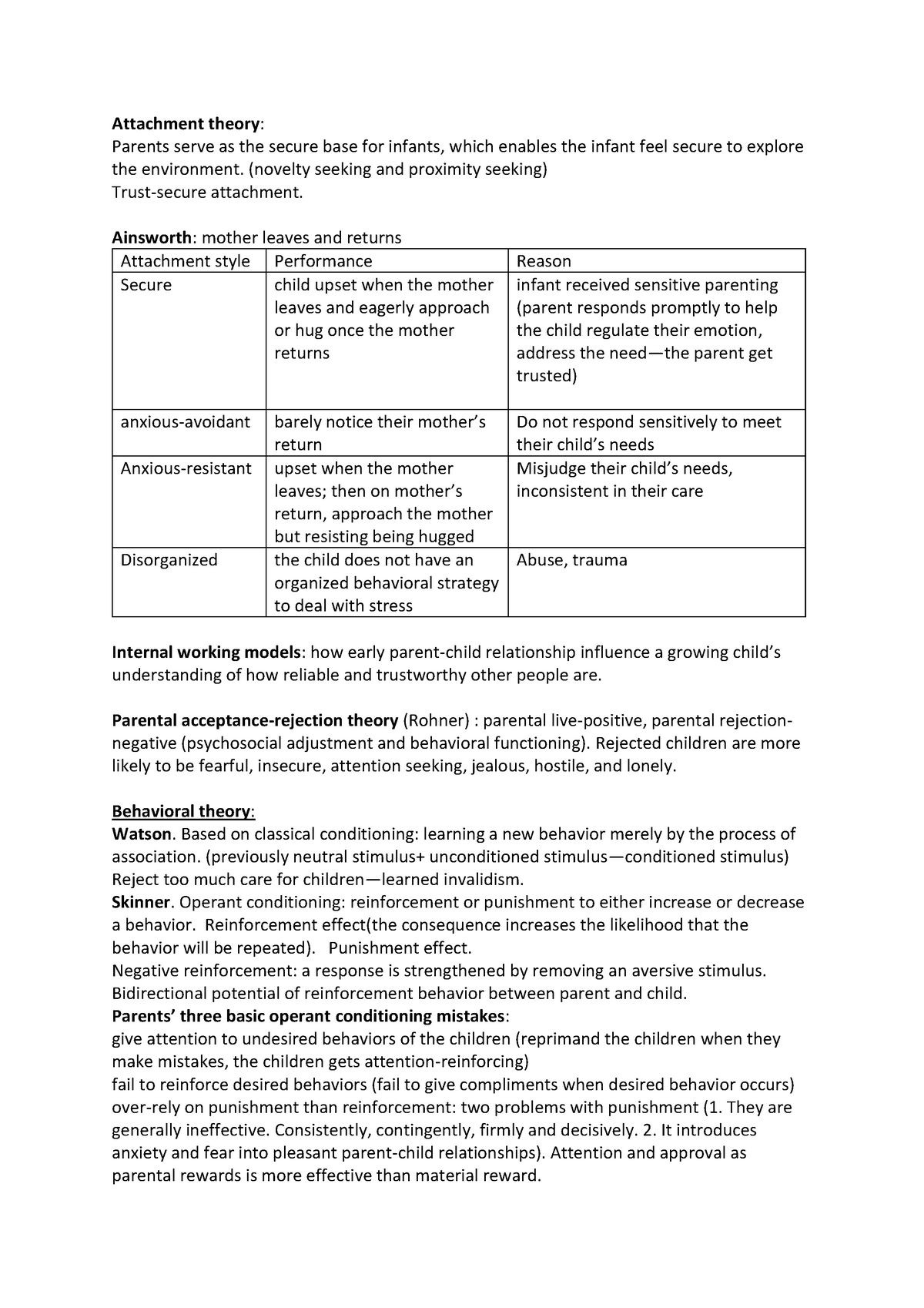 Exam #1 review - Parent-Child Relations INTS 321 - StuDocu