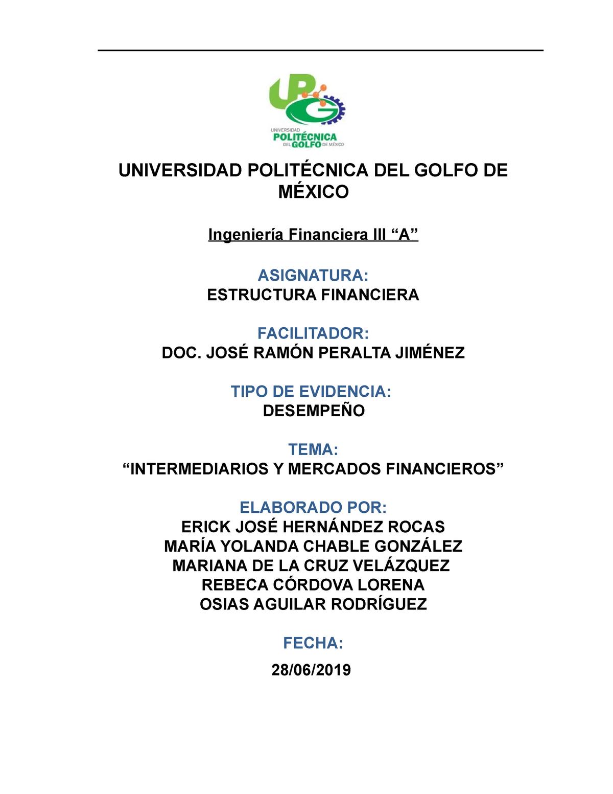 Reporte Ef Nota 9 Estructura Financiera Studocu