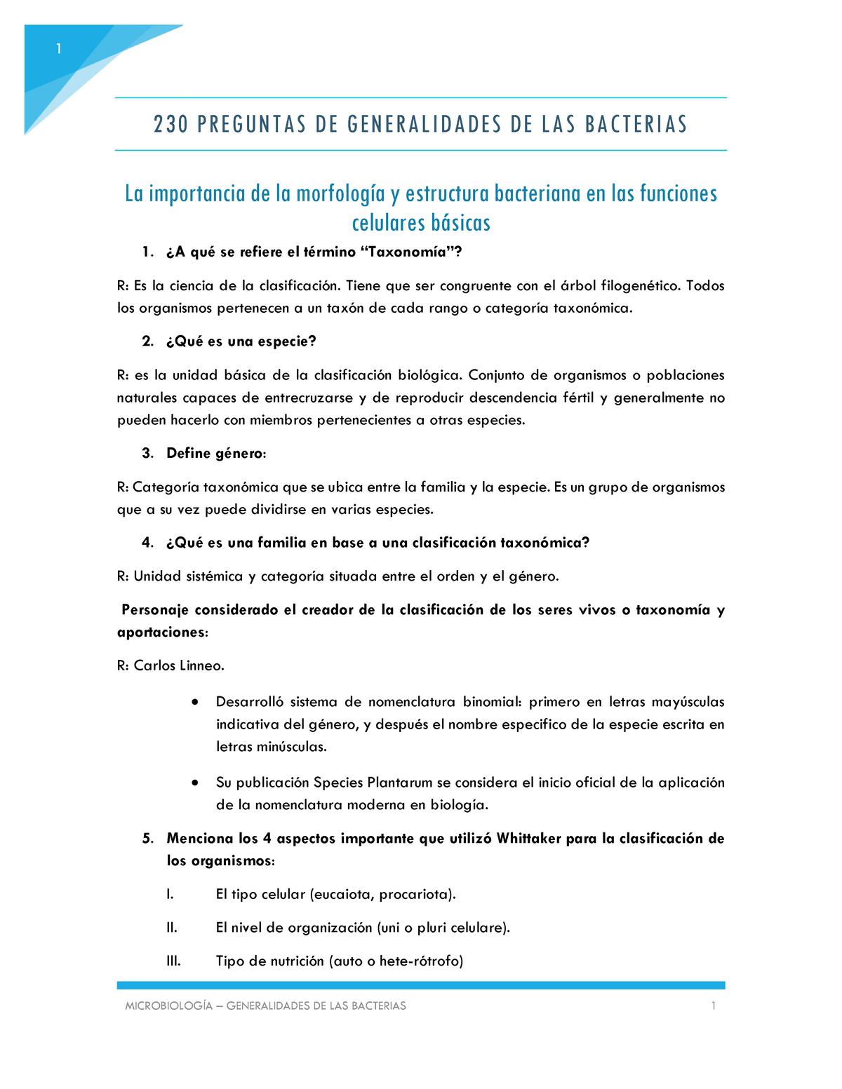 Preguntas Y Respuestas Microbiologia Repaso Studocu