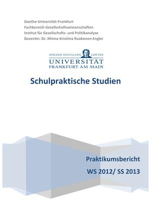 Praktikumsbericht Schulpraktische Studien Mit Transkript