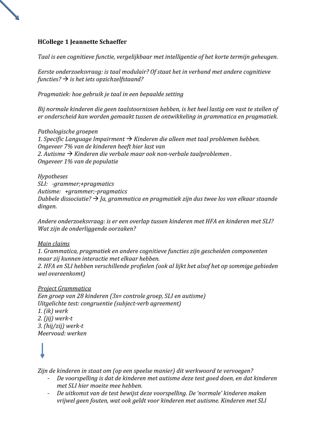 3a9ad720051 College-aantekeningen Taalwetenschap - 135110056Y: Inleiding ...
