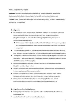 Zusammenfassungen Biologie Examen Sommer 2015 - Lehramt (L2) Examen ...