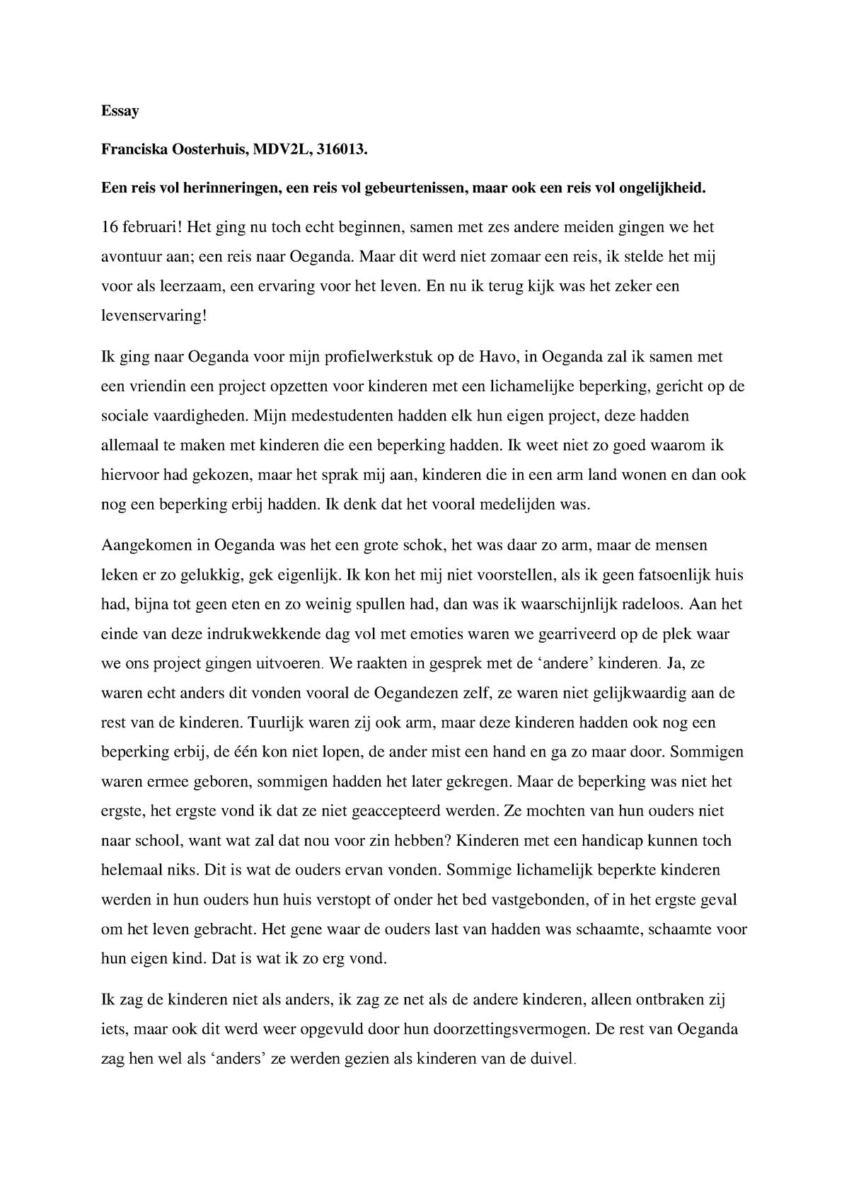 Dit of deze essay