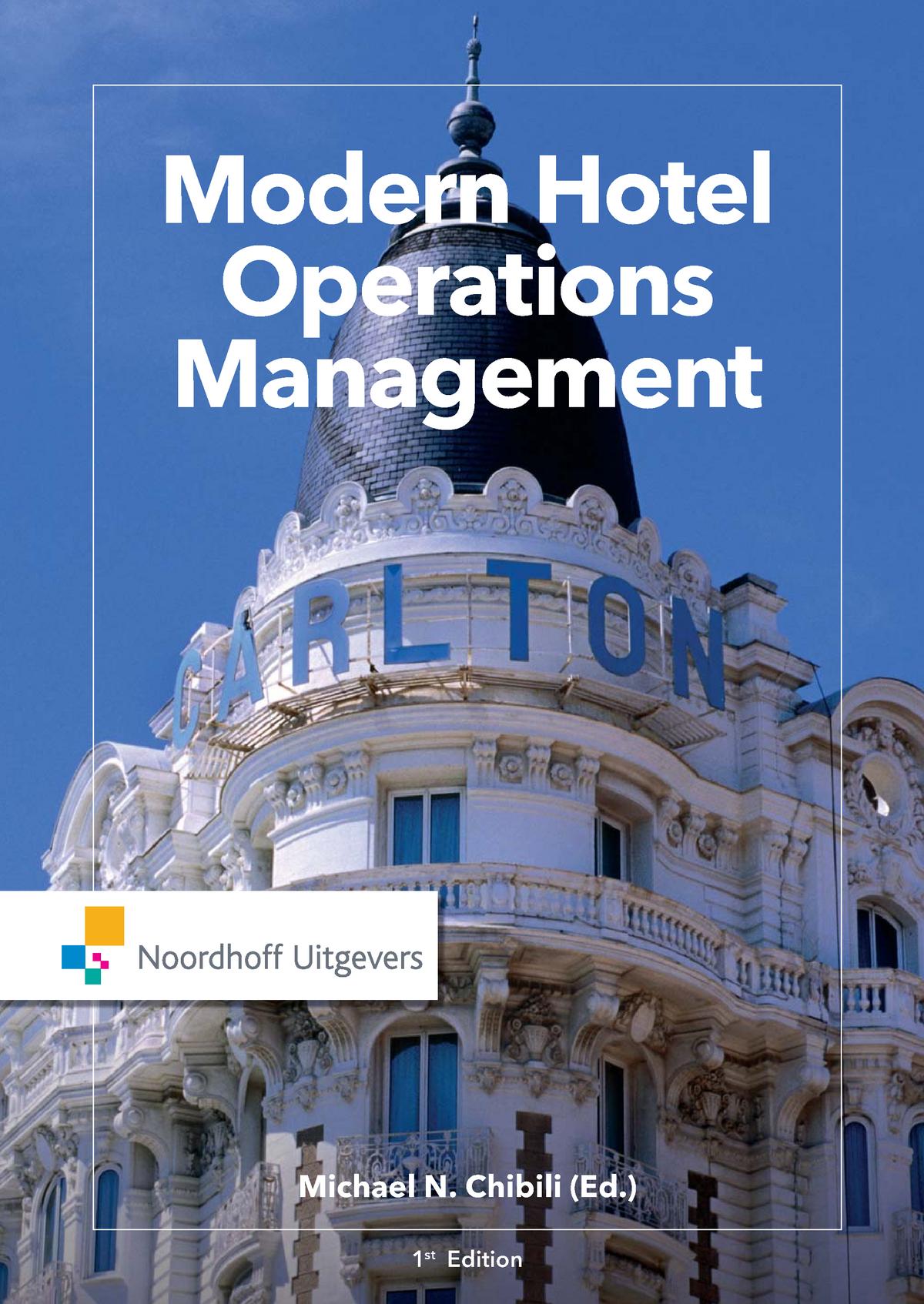 Modern hotel operations management - 5 2 - StuDocu