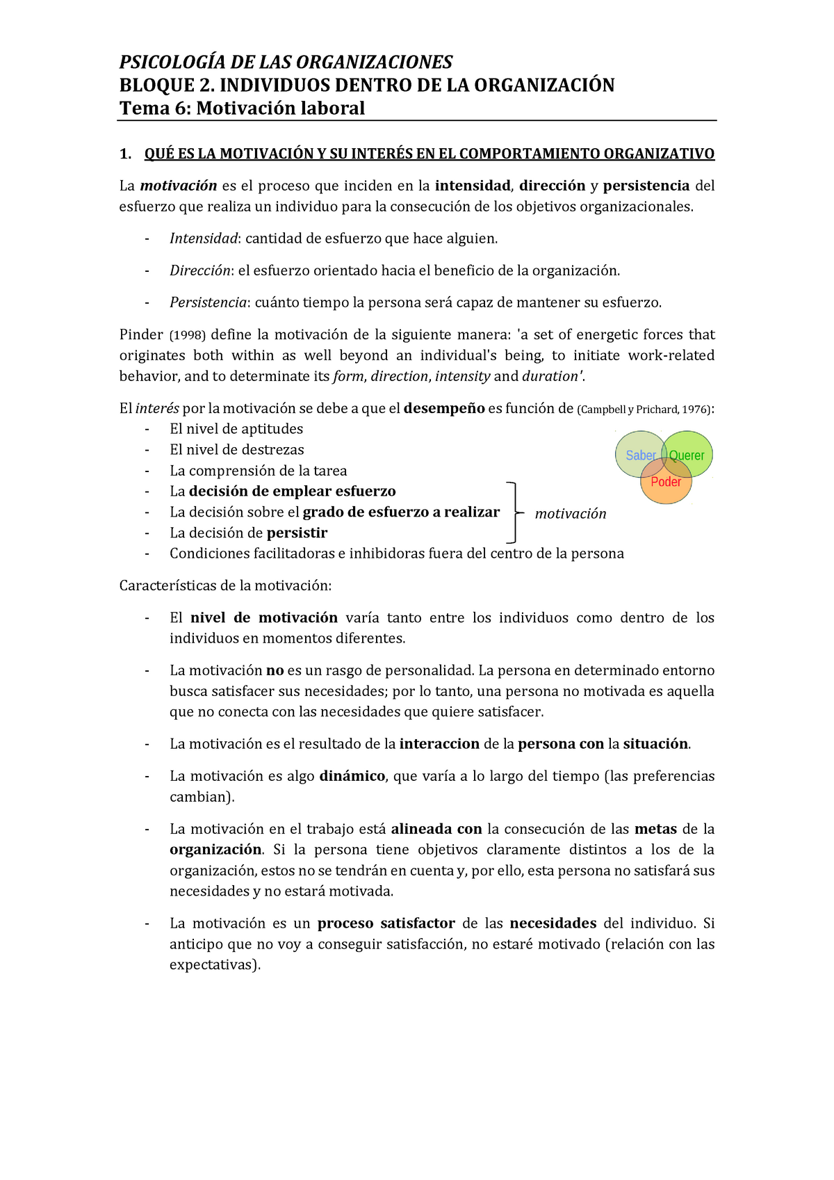 Tema 6 Motivación Laboral Jose Navarro Ub Studocu