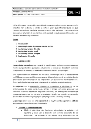 Otorrinolaringología - 1954: Otorrinolaringología - StuDocu