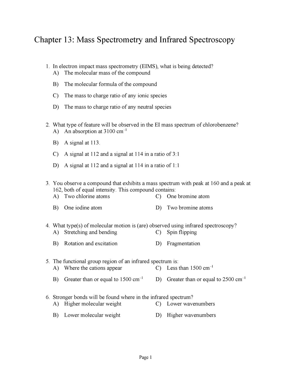 Exam 2018 - CHE 3643: Organic Chemistry II - StuDocu