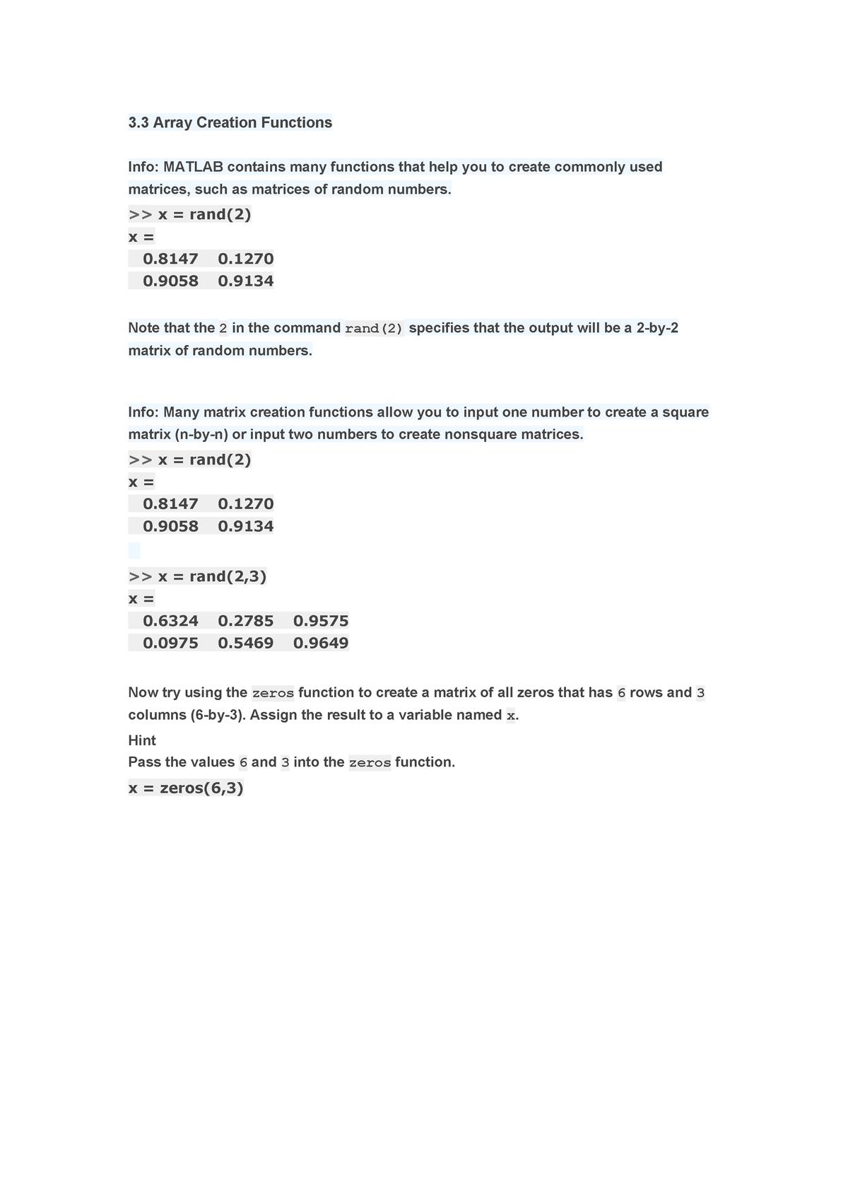 Matlab deel3 - FEB22012: Programmeren - StuDocu