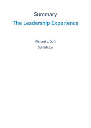Summary the leadership experience richard l daft executive summary the leadership experience richard l daft executive leadership fandeluxe Images