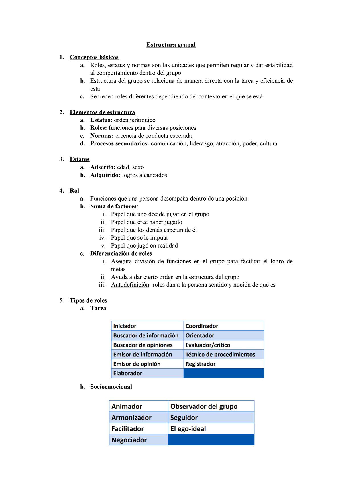 Estructura Grupal Técnicas De Grupo 6395 Ulima Studocu