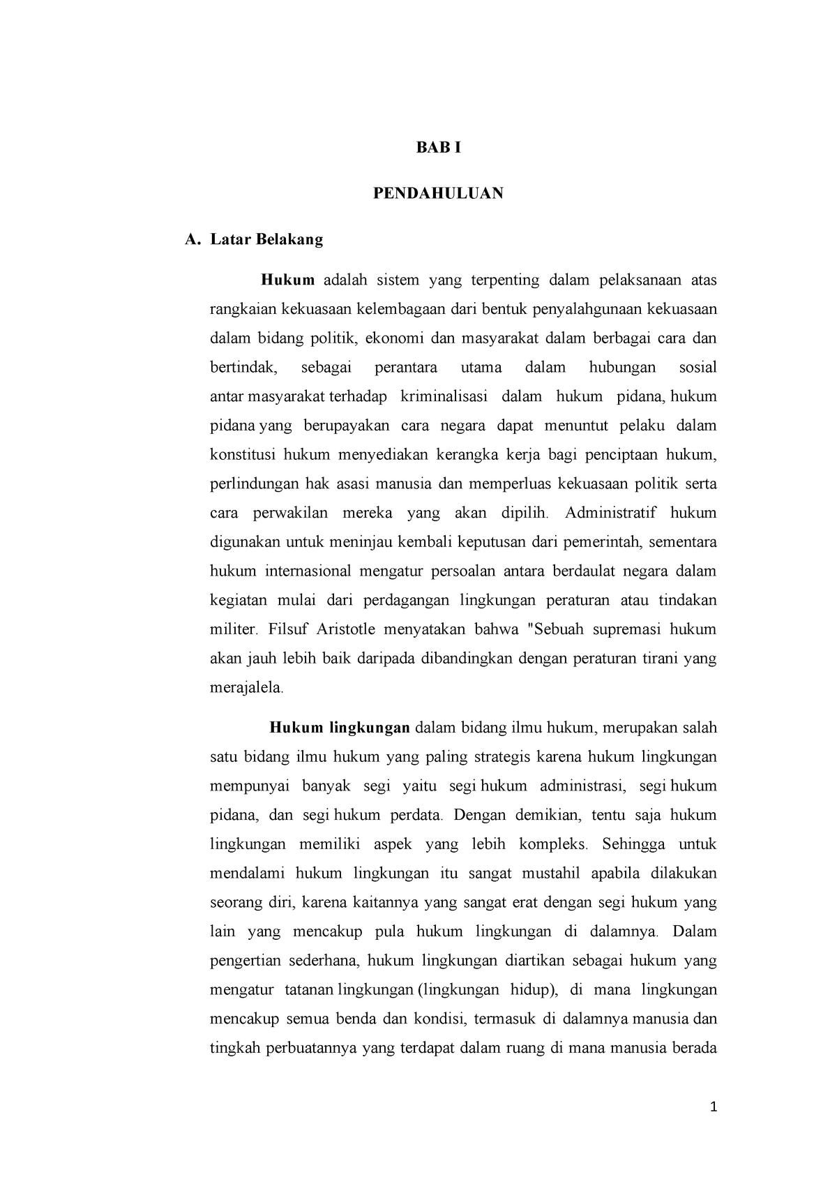 Makalah Hukum Lingkungan 320380796 Studocu