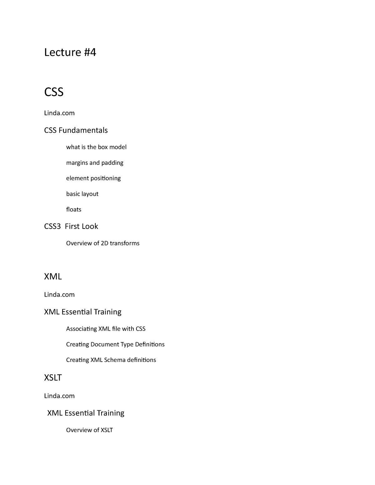 Lecture 4 Web Admin - CIS 4160: Web Applications Development